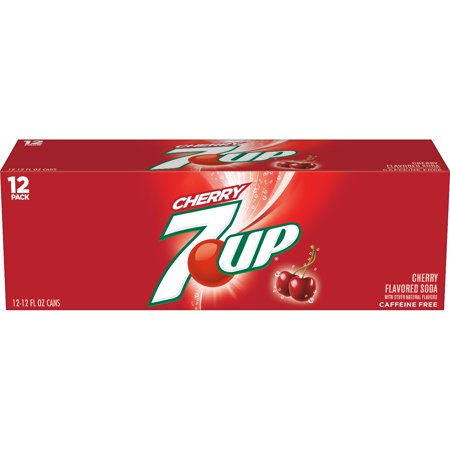 (2 Pack) 7UP Cherry, 12 Fl Oz Cans, 12 Ct ()