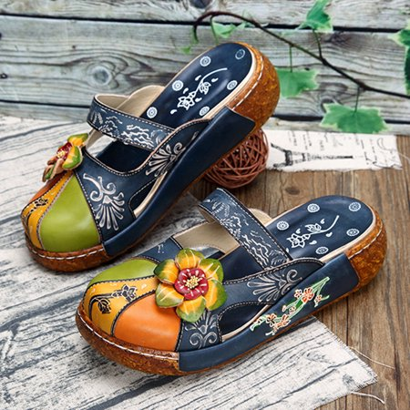 812fdbf8df139 Socofy Female Casual Shoes Indoor Outdoor Fashion Flat PU Shoes Sandals For  Women Daily Casual Holiday