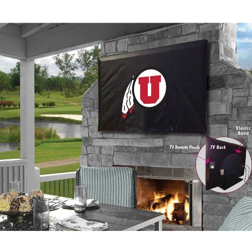 NCAA TV Cover by Holland Bar Stool, Utah Utes - 60'' x 37''