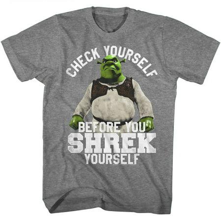 Shrek Movie Check Yourself Before You Shrek Yourself Adult T-Shirt Tee - image 1 de 1
