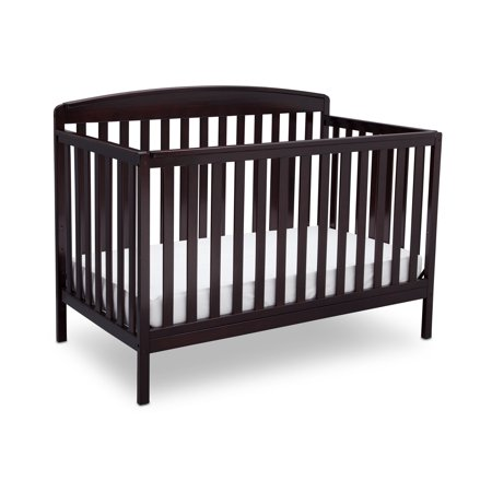 Delta Children Brayden 4-in-1 Convertible Crib, Dark Chocolate