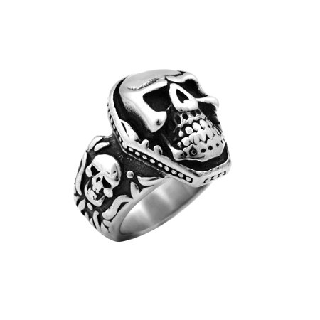 Stainless Steel Coffin Head Shape Skull Ring (Available in Sizes 10 to 14) size 11 - Coffin Shape