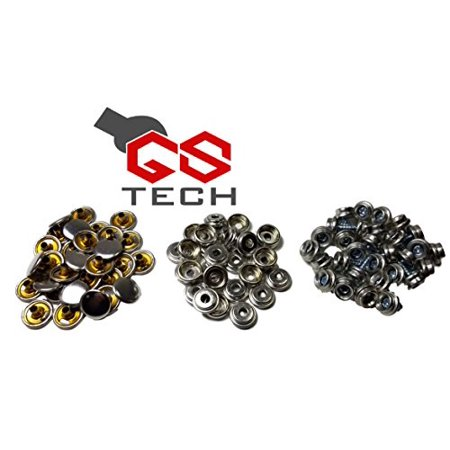 GS Tech Stainless Steel Canvas 3/8 Inch Snap Screw Set, Marine Grade Includes Caps, Screws And Sockets (60 (60 Cap Set)