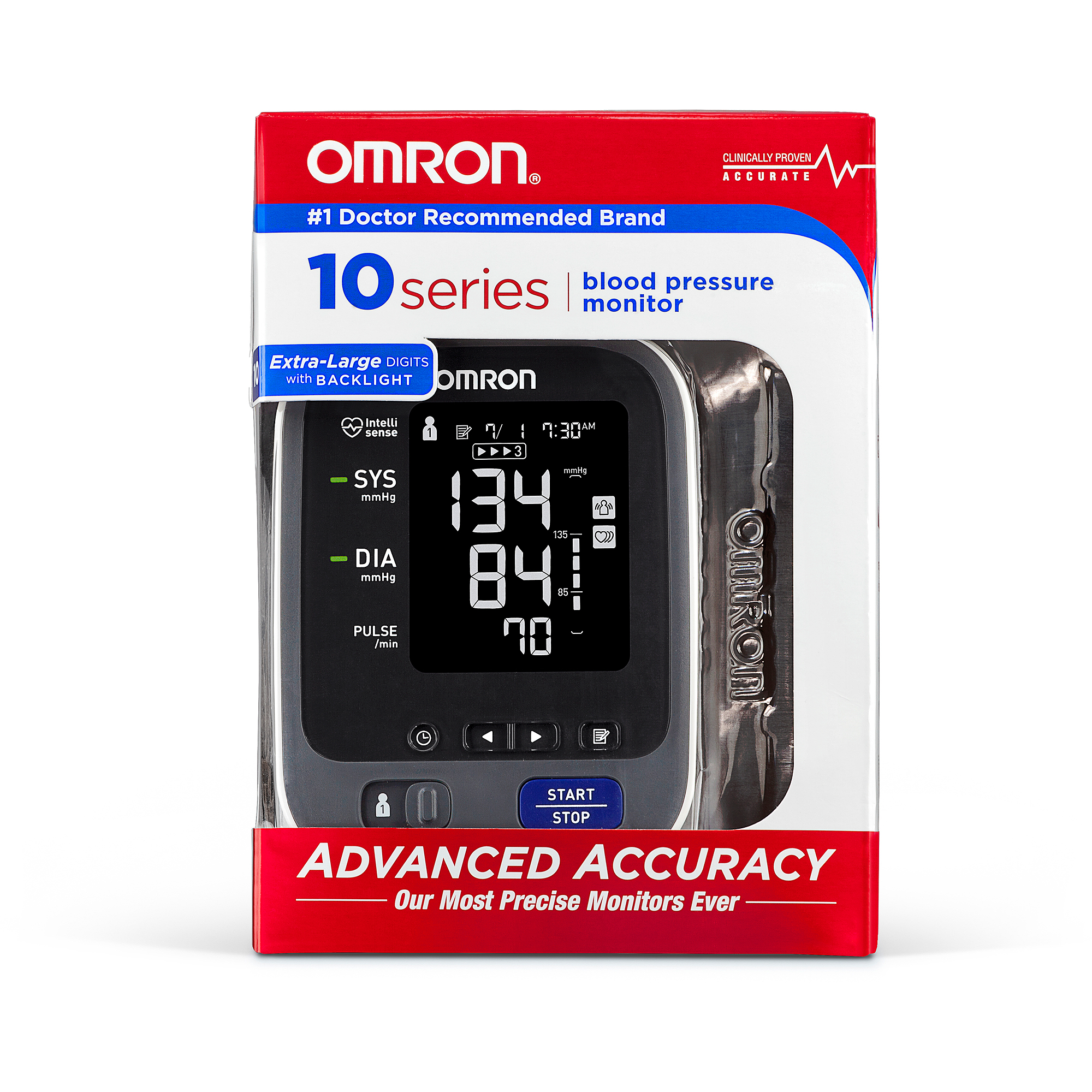 Omron 10 Series Upper Arm Blood Pressure Monitor with Cuff that fits Standard and Large Arms (BP785N)