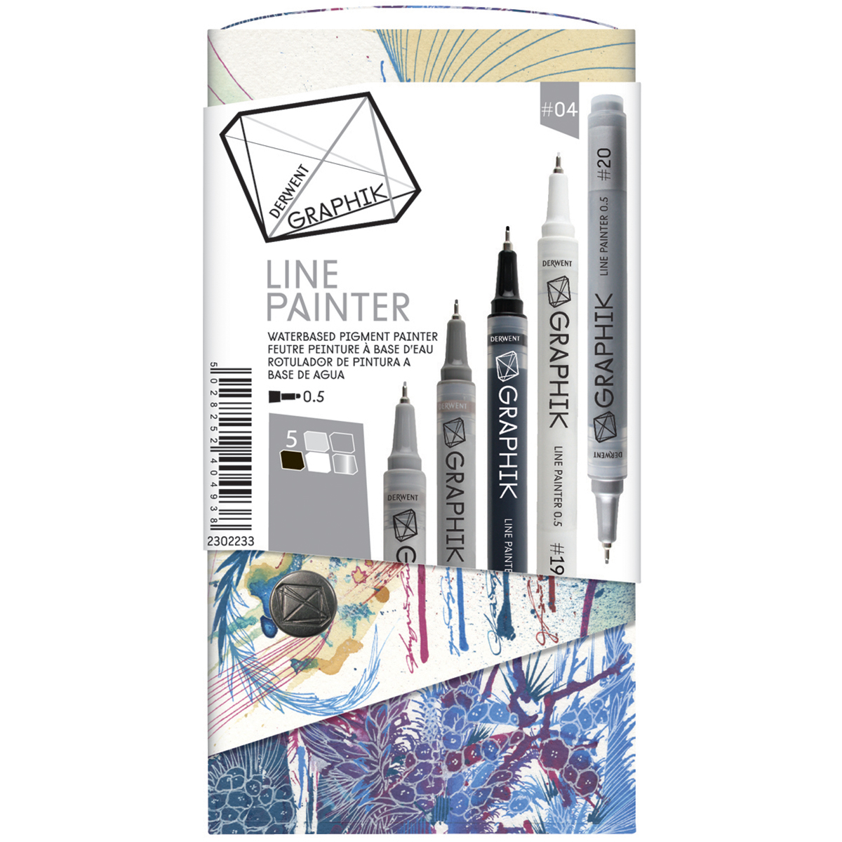 Derwent Graphik Line Painter Set 5/Pkg-Palette #4