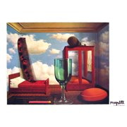"""RENE MAGRITTE Les Valeurs Personnelles 27.5"""" x 39.5"""" Poster 2005 Surrealism Blue, White, Red, Green"""