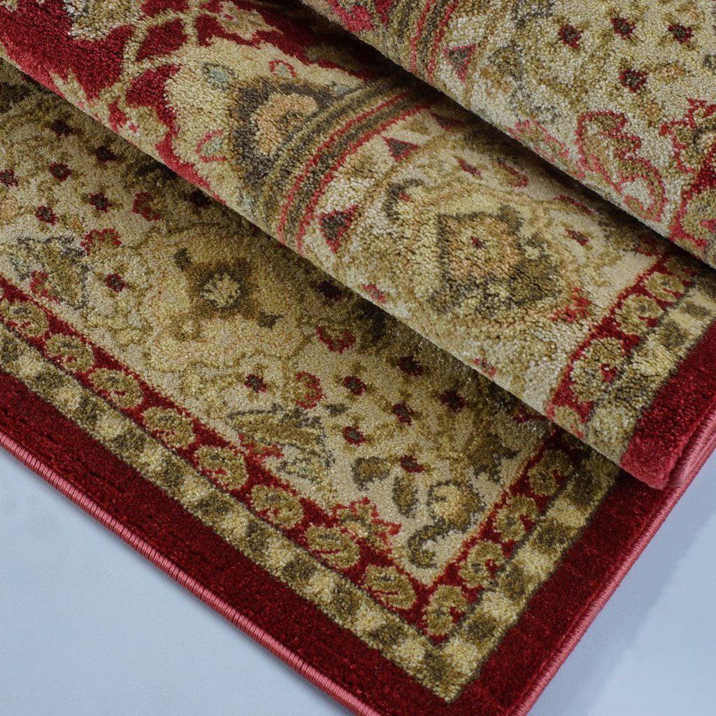 "Ladole Rugs Traditional Persian Design Runner Area Rug Carpet Cream Red(2'7"" x 9'10"", 80cm x 300cm) - image 3 of 4"