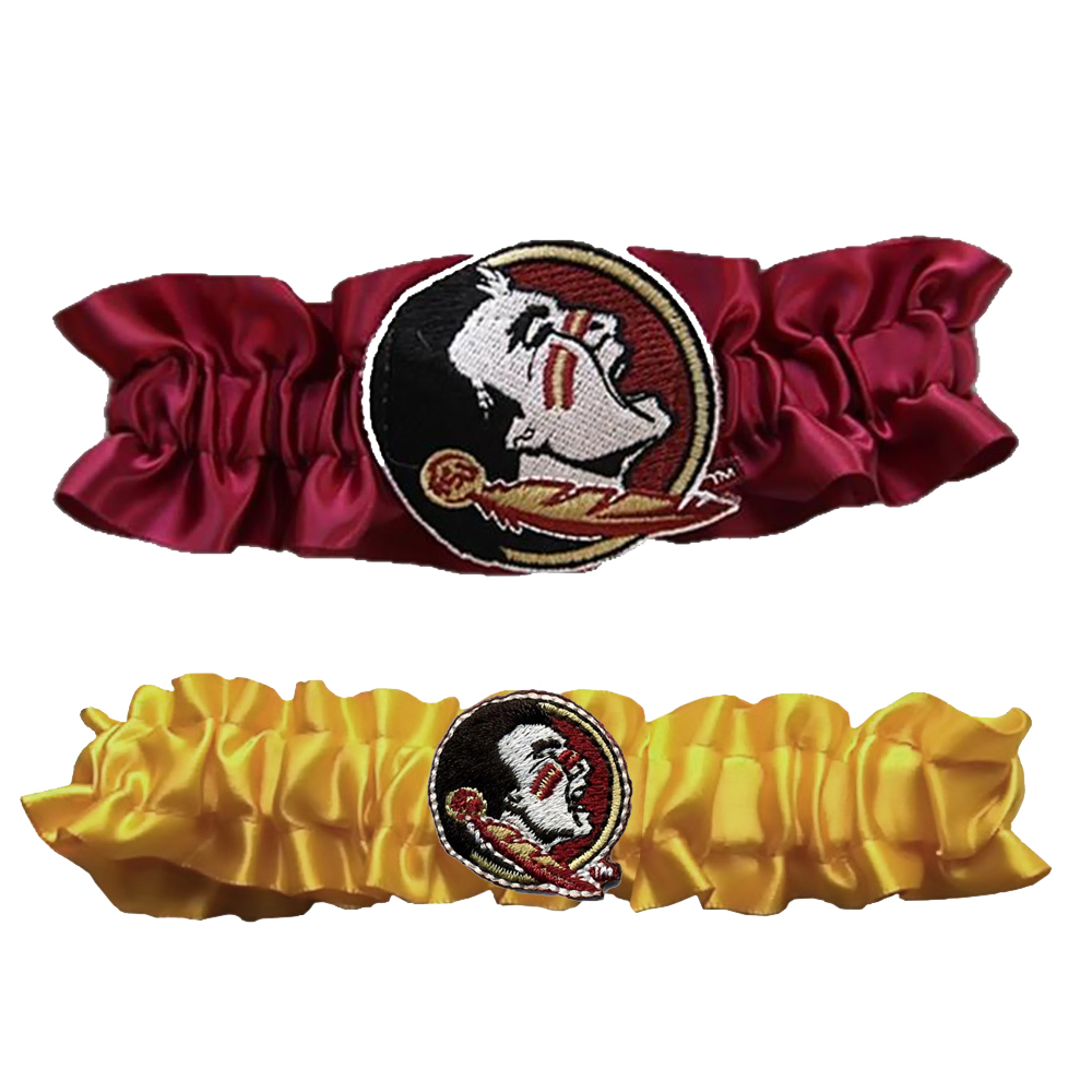 Divine Creations DVC-G721-FSU-PUGO Florida State Seminoles Ncaa Garter Set One To Keep One To Throw [maroon/gold]