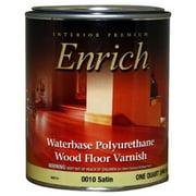 True Value 0010-QT Enrich Satin Water Base Varnish and Floor Finish, 1-Quart