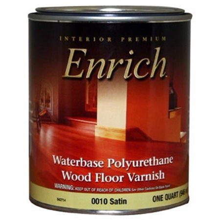 True Value 0010-QT Enrich Satin Water Base Varnish and Floor Finish,