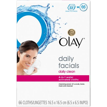 Olay Daily Facials 4 In 1 Water Activated Cloths  66 Count