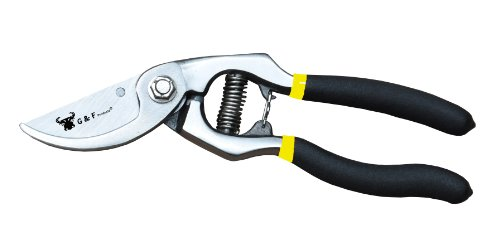 Pruning Shears Extra Hardness Extra Sharp Tree Clippers Garden Hand Pruners Cutting Easier Ergonomic, Comfortable... by G & F