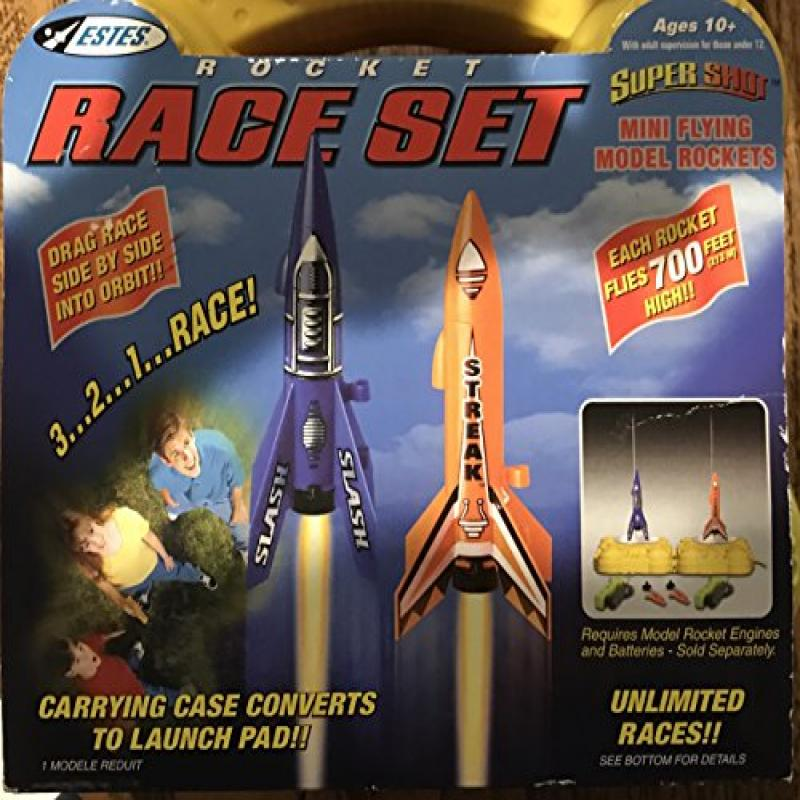 Estes Super Shot Mini Flying Model Rockets Race Set, 1888! by