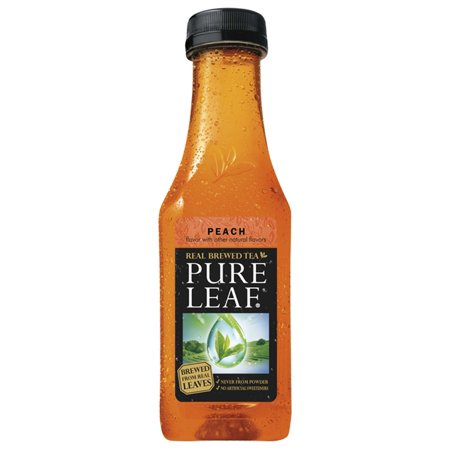 (2 Pack) Pure Leaf Real Brewed Tea, Peach, 18.5 Fl Oz, 6 Count