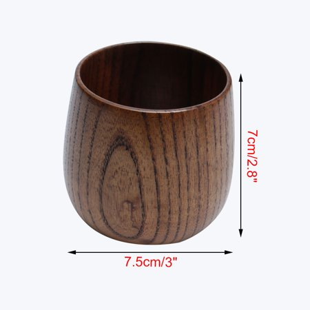 Small Handmade Solid Wood Tea Cup 3 Wooden Wine Water Drinking Cups