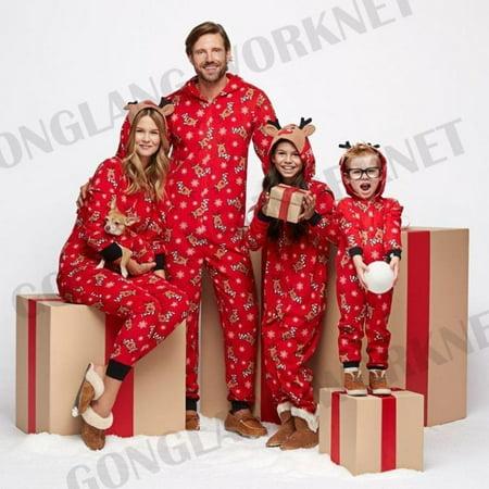 Family Matching Christmas Pajamas Set Women Baby Kids Sleepwear Nightwear ()