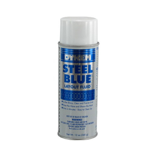 12 oz. Aerosol Spray Dykem Blue Layout Fluid by Dykem