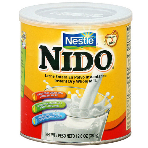 Nido Instant Dry Whole Powdered Milk, 12.6 oz (Pack of 12)