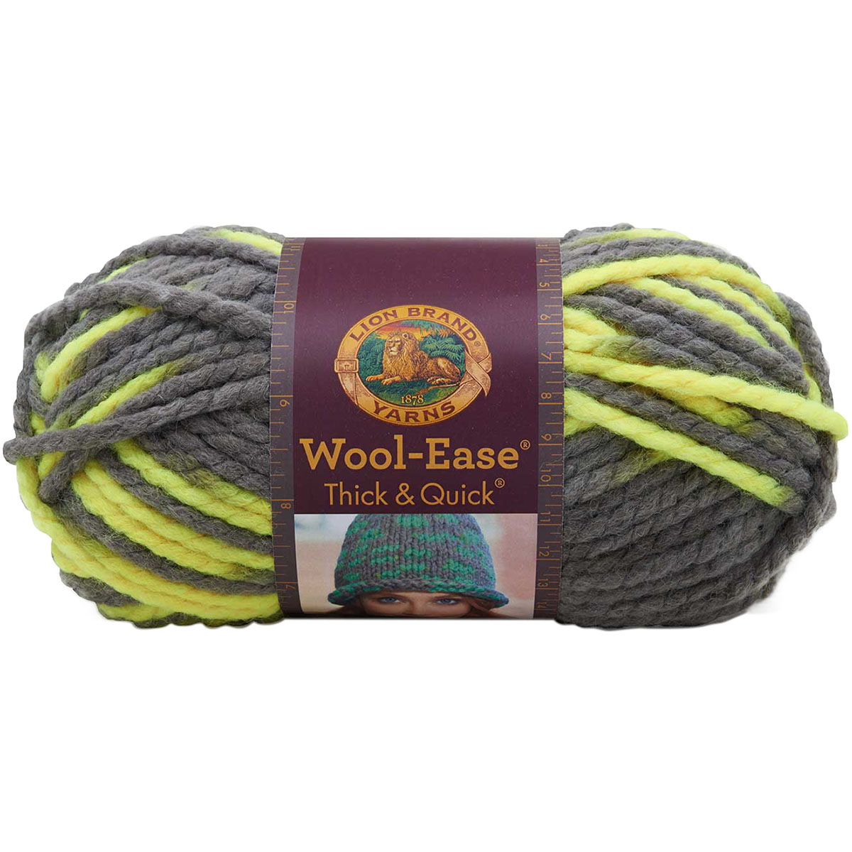Lion Brand Wool-Ease Thick and Quick Yarn, Toucan Multi-Colored