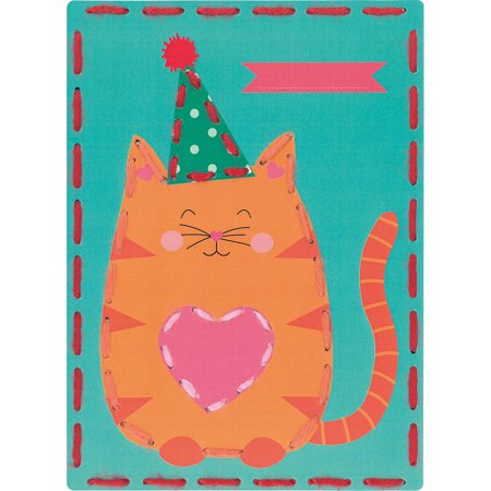 Kits 4 Kids Cat and Panda Embroidery Cards Kit, 7.25