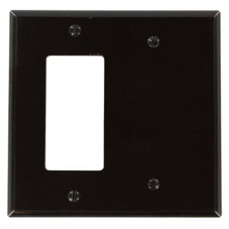 Leviton 80608 Brown Midway Two Gang Combination Decora Blank Wall