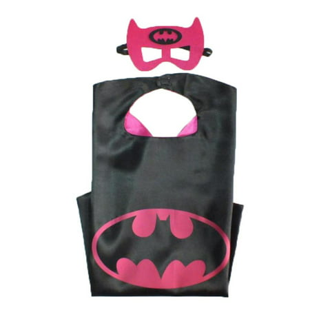 DC Comics Costume - Batgirl Bat Logo Cape and Mask with Gift Box by Superheroes - Batgirl Costumes For Girls
