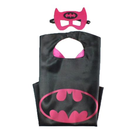 DC Comics Costume - Batgirl Bat Logo Cape and Mask with Gift Box by Superheroes - Make Diy Batgirl Costume For Halloween