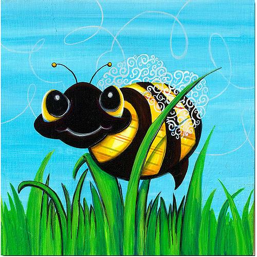 "Trademark Fine Art ""Bee at Play"" Canvas Art by Sylvia Masek"