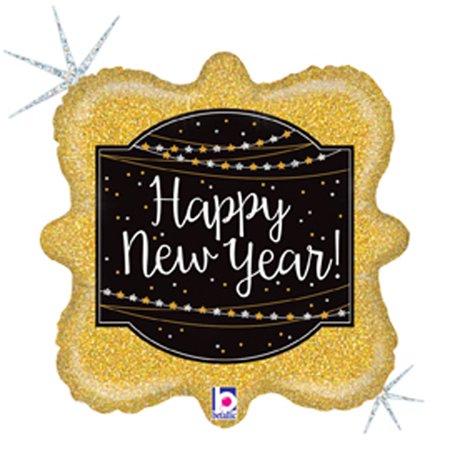 Glittering New Year Mylar Balloon - New Years Balloons