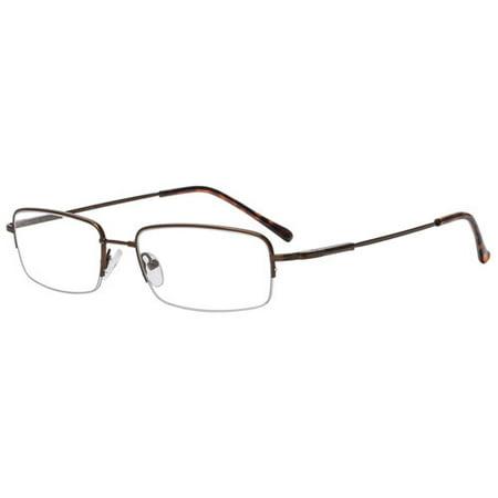 M+Flex Mens Prescription Glasses, MF500 Brown