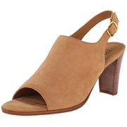 Walking Cradles Women's Gwen Dress Sandal, 8.5 W US, Dark Camel Nubuck
