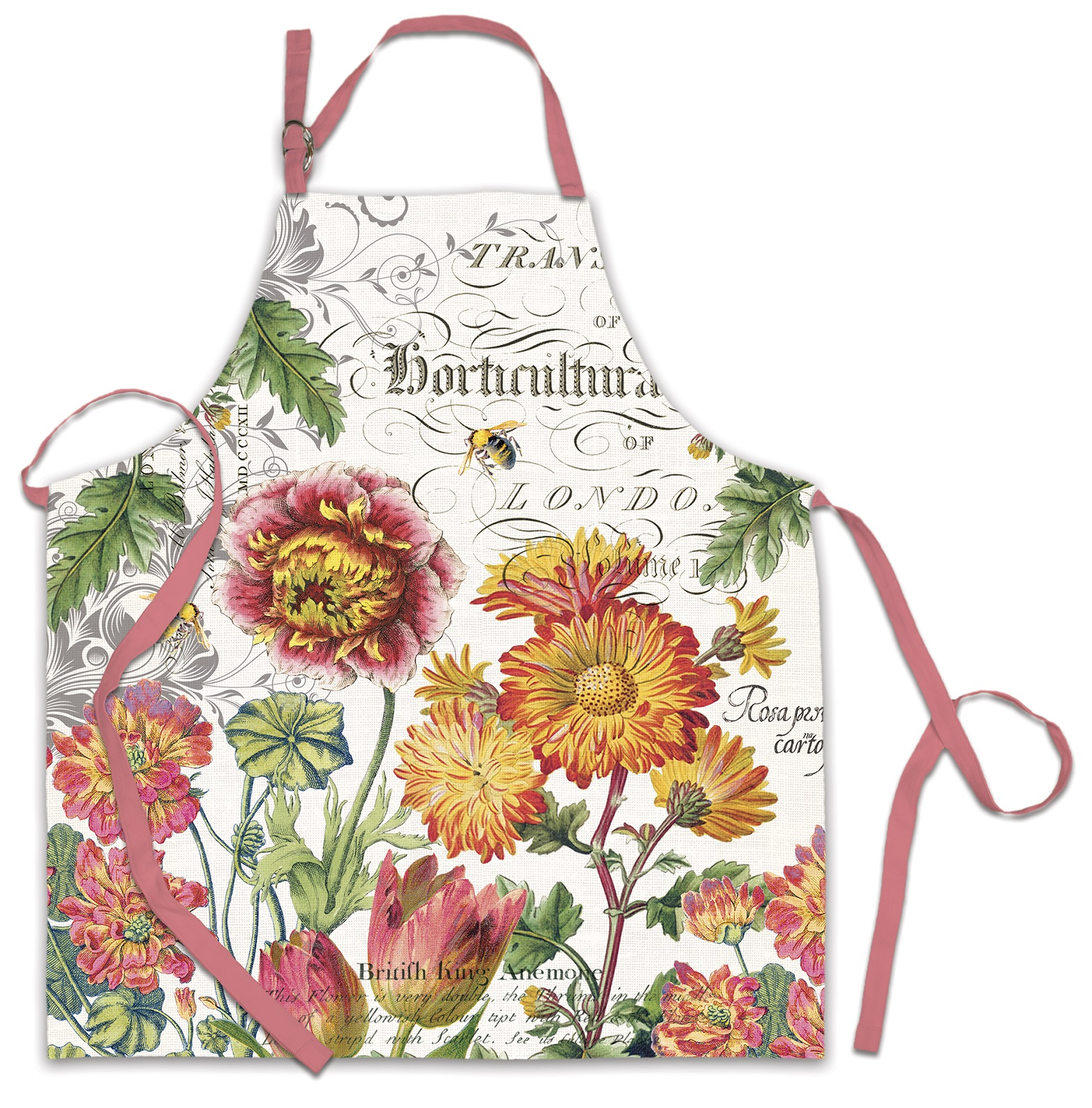 Blooms and Bees Cotton Kitchen Chef Apron