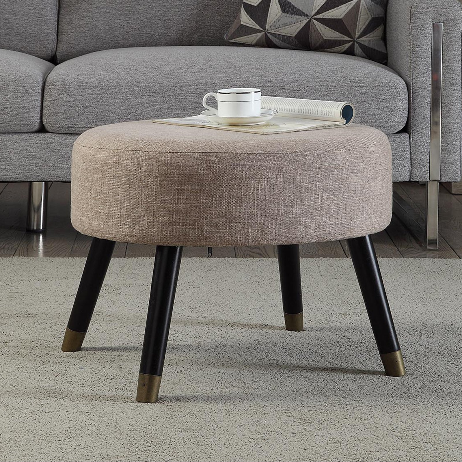 Convenience Concepts Designs4Comfort Mid Century Ottoman Stool