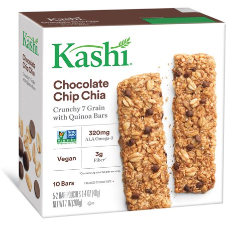 1.4 Ounce Bars - Kashi Chocolate Chip Chia Crunchy Granola & Seed Bars, 1.4 oz, 5 count