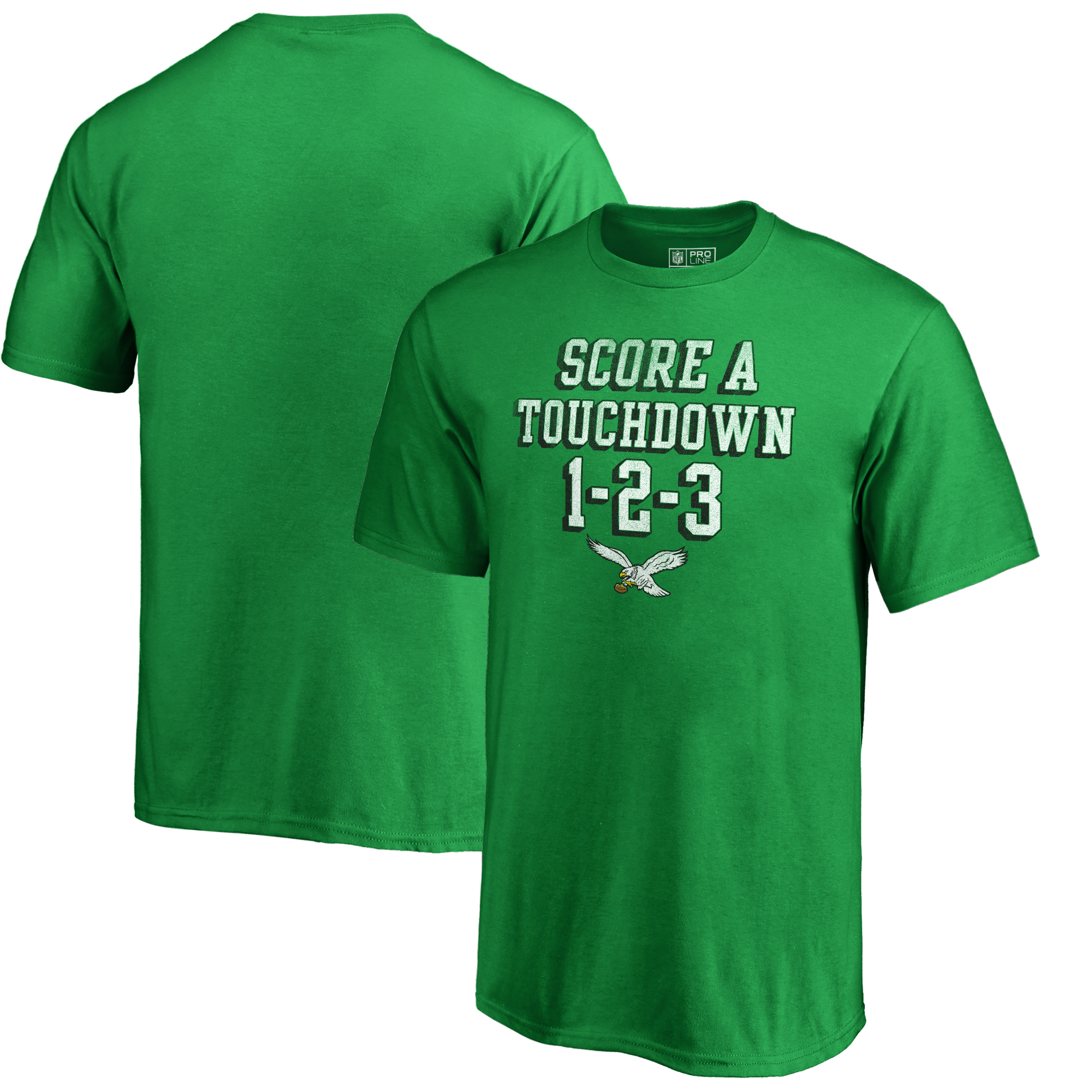 Philadelphia Eagles NFL Pro Line by Fanatics Branded Youth Hometown Collection TD 1-2-3 T-Shirt - Kelly Green