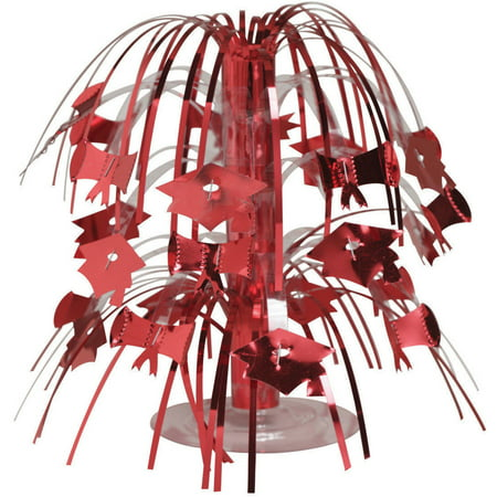Red Graduation Cascading Centerpiece