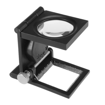 10X 28mm Three-Folding Magnifier Magnifying Glass w Scale for Jewelry Tool
