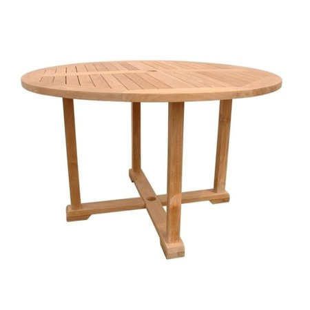 Anderson teak tosca 4 foot round patio dining table in for 6 foot round dining table