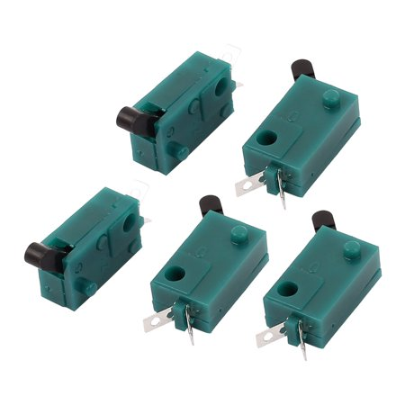 Camel Miniature - 5 Pcs DC 50V 1A SPST Momentary Micro Miniature Switch Green for Camera