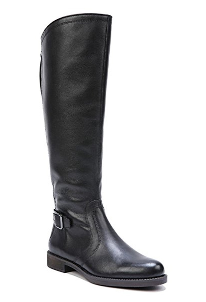 Franco Sarto Sarto Women's CARLANA Wide Calf Riding Boot BLACK,6.5 by Franco Sarto