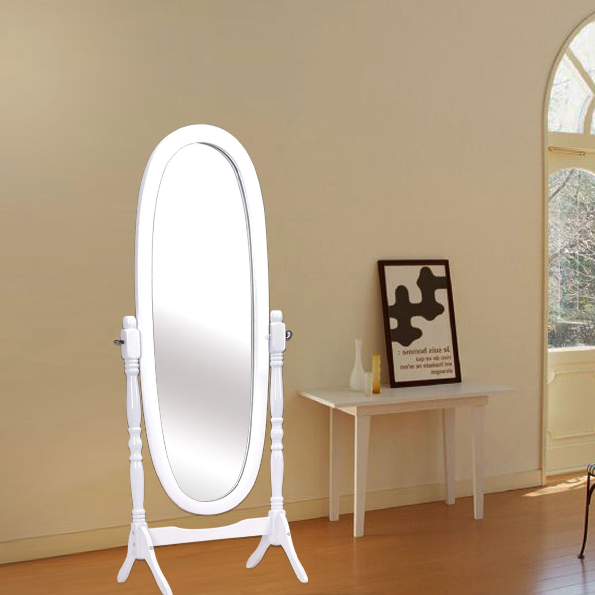 Awesome Bedroom Dressing Mirror #15 - Costway Full Length Dressing Mirror Swivel Wood Cheval Floor Standing  Antique - Walmart.com