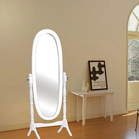Costway Full Length Dressing Mirror Swivel Wood Cheval
