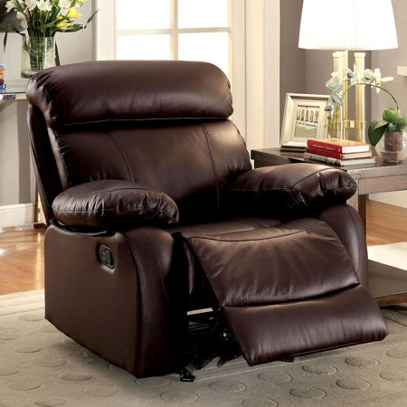 furniture of america gryphon top grain leather recliner