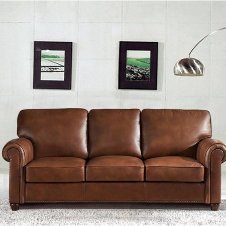 Darby Home Co Kiaan Craft Leather Sofa