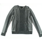 inc new charcoal heather gray mens size xl crewneck cable-knit sweater $59