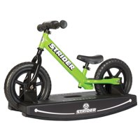Strider 2-in-1 Grow With Me Baby Rocker and Ride-On Balance Bike Toy, Red
