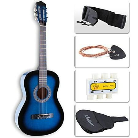 LAGRIMA Beginners Acoustic Guitar w/Guitar Case, Strap, Tuner & Pick Steel St