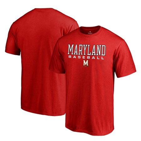 Maryland Terrapins Fanatics Branded Big & Tall True Sport Baseball T-Shirt - Red