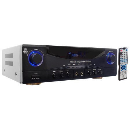 - PYLE PT590AU - 5.1 Channel Amplifier Receiver Digital Home Theater Stereo System, 4K Ultra HD & 3D Pass-Through, 350 Watt