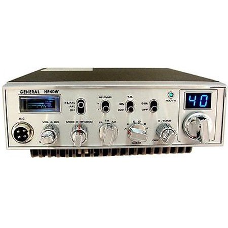 GENERAL HP-40W 10 METER MOBILE HAM RADIO PRO TUNED, ALIGNED, RECEIVER